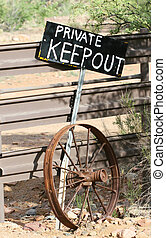 Keep Out - A KEEP OUT sign stands guard over the entrance to...