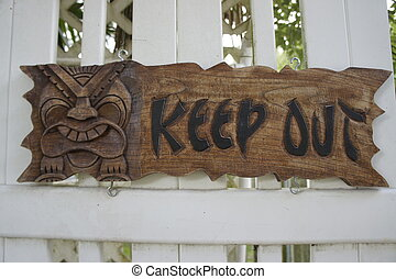 Keep Out - Picture of a keep out sign on a gate