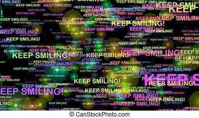 Keep smiling - motivation motion graphics