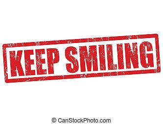 Keep smiling stamp