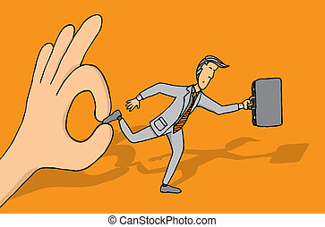 Keeping businessman from progressing