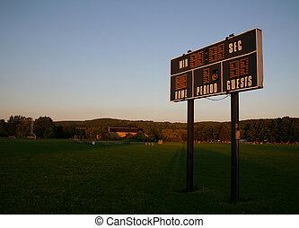 Keeping Score - A local scoreboard in some pretty light.