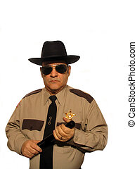 Keeping the Peace - ,Part of the sheriff series,over white