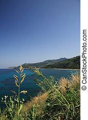 Kefalonia coastline view