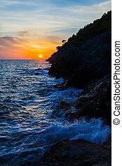 Kefalonian Sunset in the Ionian sea