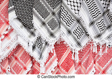 keffiyeh, arabe, écharpe, fond