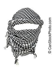 Keffiyeh - traditional Arabic headgear isolated on white...
