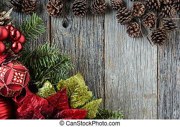 kegel, hintergrund, kiefer, rustic, holz, dekorationen, weihnachten