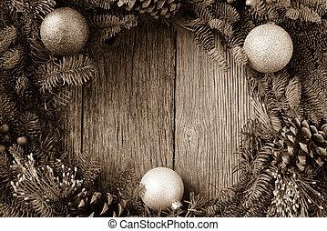 kegel, kranz, kiefer, rustic, holz, verzierungen, weihnachten, b.a.