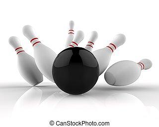 keglespil strejke, viser, gevinst, skittles, boldspil