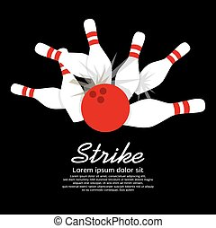 keglespil, strike.