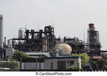 Keihin industrial district in Japan