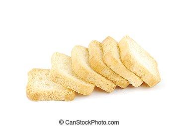 kekse, schmackhaft, weißes