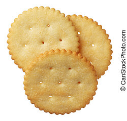 kekse, weißer hintergrund, freigestellt