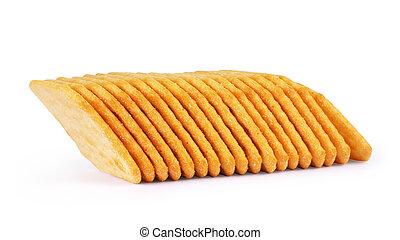 kekse, weißes, haufen, freigestellt, hintergrund