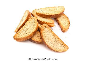 kekse, weißes, haufen
