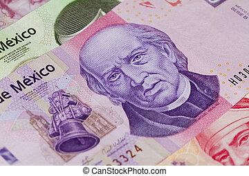 kelet, ezer, számla, peso, mexikói, hidalgo