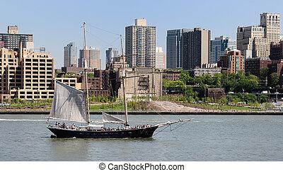 kelet folyó, csónakázik