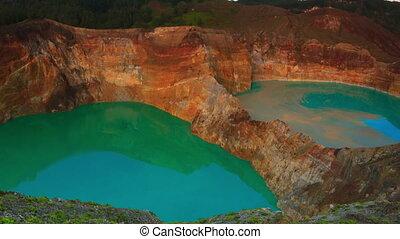 Kelimutu lakes - Volcanic lakes Ato Polo and Nuamuri koofai....