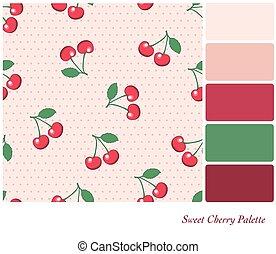 kellemes, paletta, cseresznye