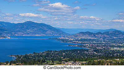 Kelowna British Columbia Canada - a mountain view above...