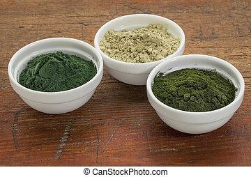 kelp, spirulina and chlorella - kelp, chlorella and Hawaiian...