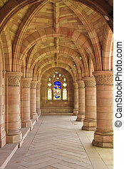 Kelso Abbey - The arches within Kelso Abbey