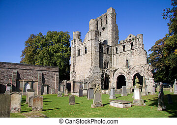 Kelso Abbey in the Scottish Borders was founded in 1128 but fell into disuse after the Reformation. This picturesque fragment is all that remains.