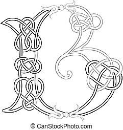 kelta, b betű, knot-work