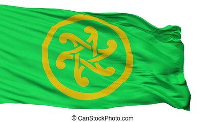 Keltia Flag, Isolated On White Seamless Loop