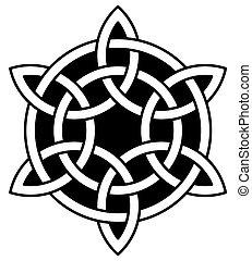keltisch, 6-point, knoten