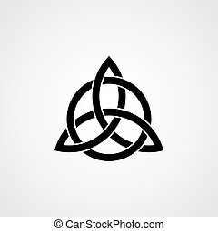 keltisch, drieëenheid, knoop