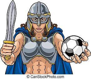 keltisch, fußball, frau, wickinger, trojan, ritter, krieger