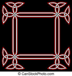 keltisch, grens, frame