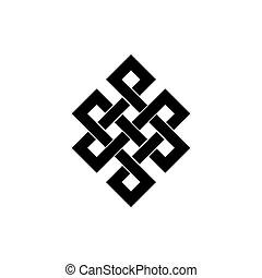 keltisch, -, ierse , vlechten, motieven, vector