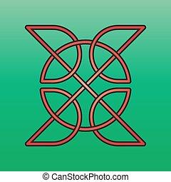keltisch, knoop, eindeloos