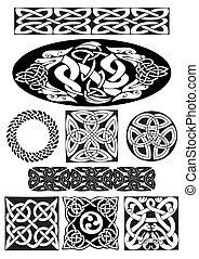 keltisch, ornament.