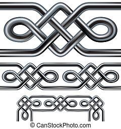 keltisch, seamless, seil, umrandungen