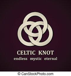 keltisch, vector, knoop, symbool, papier, ontwerp, mal