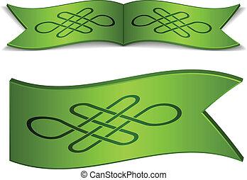 keltisch, vector, linten, knoop, eindeloos