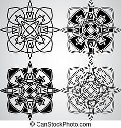 keltisch, vector, ontwerp onderdelen