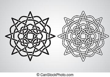 keltisch, vector, ontwerp