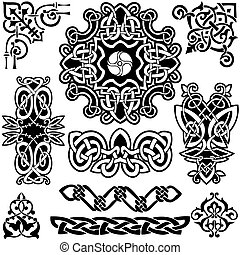 keltisch, vektor, art-collection.