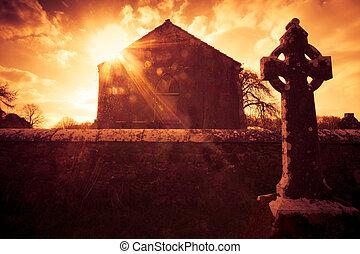 keltisches kreuz, irland