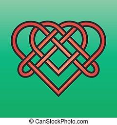 keltisk, knyta, ändlös
