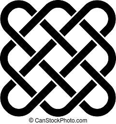 keltisk, vektor, knyta, ändlös