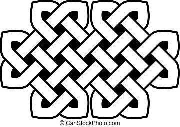 keltisk, vektor, knyta, illustration