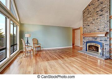 keményfa, nagy, dinning, floor., terület