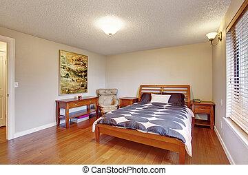 keményfa, nagy, hálószoba, emelet
