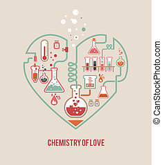 kemi, av, kärlek